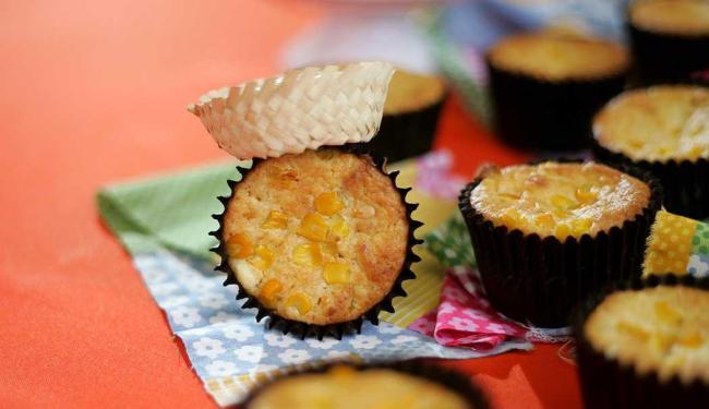 O Muffin de milho e bacon, preparado pela chef Maria Margarida - Foto: Raul Spinassé   Ag. A TARDE
