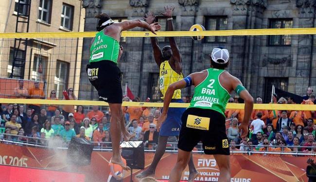 Esta é a segunda vitória da dupla no Mundial de Vôlei de Praia - Foto: Divulgação | CBV