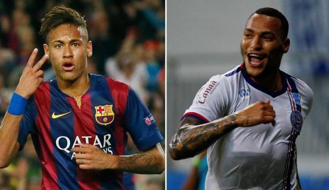 Neymar busca seu primeiro título da Liga. Já o Bahia tenta alcançar a ponta da tabela da Série B - Foto: Albert Gea   Ag. Reuters e Eduardo Martins   Ag. A TARDE