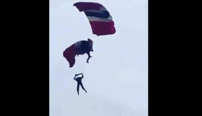 Homens estavam a mais de 300 metros de altura - Foto: Reprodução