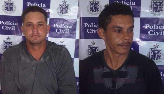 Vanderlan e Aberaldo são suspeitos de matar dois irmãos - Foto: Ascom | Polícia Civil