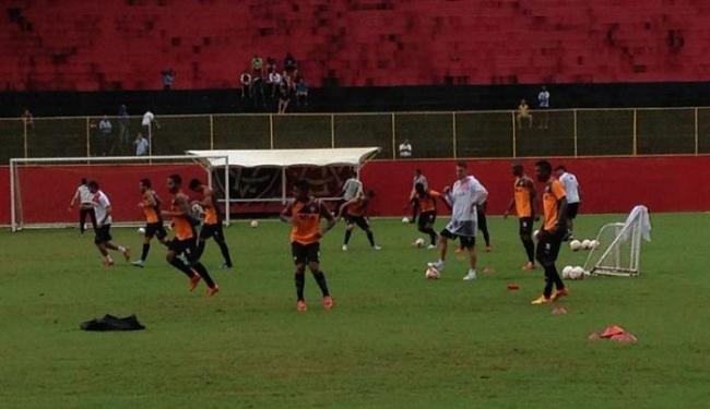 Elenco rubro-negro retomou os treinos nesta segunda - Foto: Divulgação   E.C. Vitória