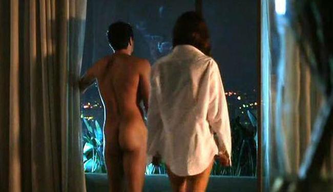 Rodrigo e Alessandra contracenavam uma cena de sexo em