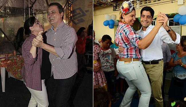 Governador passa a festa na capital à espera do nascimento da segunda filha; prefeito viajou para o - Foto: Mateus Pereira l GOVBA l Divulgação e Valter Pontes l Agecom