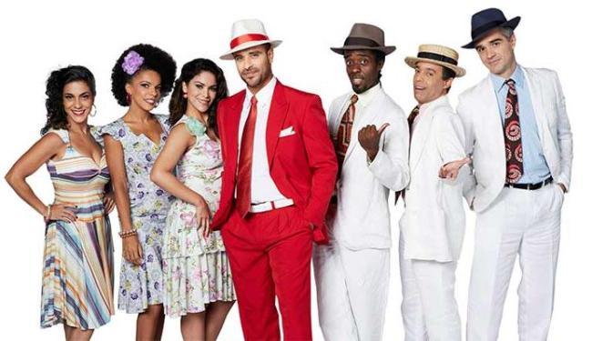 Parte do elenco do musical que vai ser encenado no TCA - Foto: Guto Costa | Divulgação