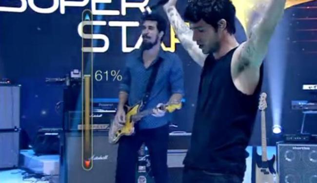 A banda Scambo foi eliminada porque obteve apenas 61, 21% de aprovação - Foto: Reprodução   TV Globo