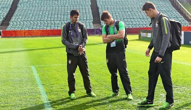 Jogadores do Brasil fizeram o reconhecimento do North Harbour Stadium, palco da decisão - Foto: Divulgação l CBF