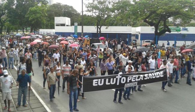 Em campanha salarial, servidores do setor de saúde realizam protesto - Foto: Divulgação | Sindseps