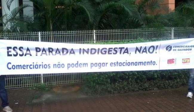 Categoria promete novas manifestações nos próximos dias em shoppings de Salvador - Foto: Jefferson Domingos   Ag. A TARDE