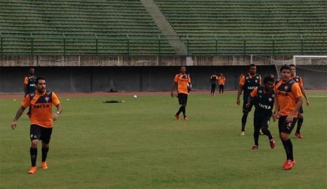 Jogadores treinaram no campo do Estádio de Pituaçu - Foto: Divulgação   E.C.Vitória