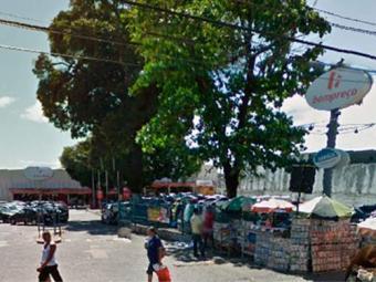 Bandidos explodiram o caixa na madrugada - Foto: Reprodução   Google Maps