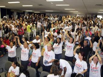 Servidores decidiram greve durante assembleia nesta segunda - Foto: Carlos Barros | Divulgação