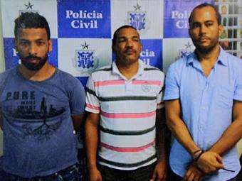 Trio foi preso poucas horas após efetuarem o roubo - Foto: Reprodução l Adilton Venegeroles | Ag. A TARDE