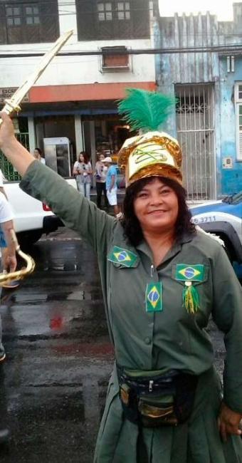 Romilda Anunciação se veste como a guerreira há 21 anos - Foto: Joá Souza | Ag. A TARDE