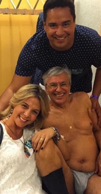 Caetano Veloso aparece bem à vontade ao lado de Carla e Xanddy - Foto: Reprodução   Instagram   @paulalavigne