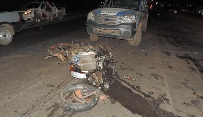 O motociclista Werlei Tomaz morreu no local do acidente - Foto: Reprodução | Blog Sigi Vilares
