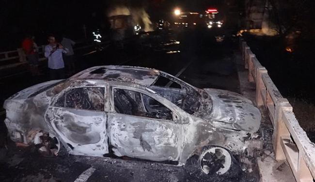 Cerca de oito homens atacaram carro-forte na rodovia - Foto: Blog do Sig Villares l Divulgação