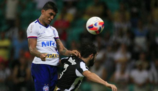 Kieza marcou o gol de empate do Bahia - Foto: Lúcio Távora   Ag. A TARDE