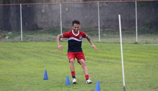 Lateral já estava treinando no Fazendão desde a semana passada - Foto: Reprodução | E.C Bahia