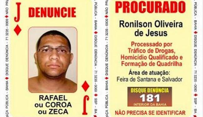 SSP diz que Ronilson é suspeito de ter liderado rebelião em Feira - Foto: Divulgação   SSP
