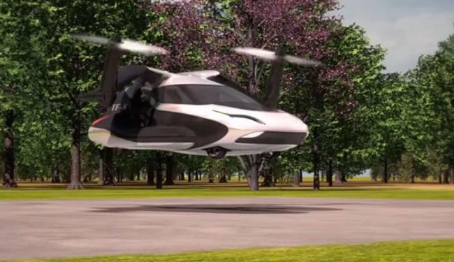 Carro decola como helicóptero - Foto: Reprodução | Youtube
