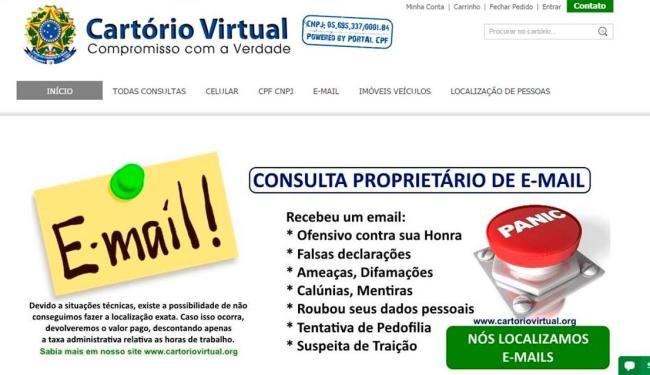 Site oferece contas detalhadas de telefone e até conversas no WhatsApp - Foto: Reprodução
