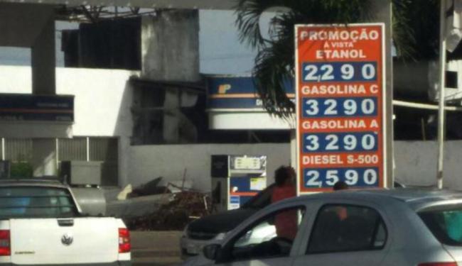 Posto Menor Preço, que fica em Águas Claras - Foto: Edenilson Almeida | Cidadão Repórter | Via Whatsapp