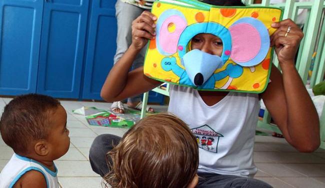 Programa é direcionado a instituições que atendem crianças, como a Creche Fundamental Lar Feliz - Foto: Ivan Cruz   Ag. A TARDE   27.4.2011
