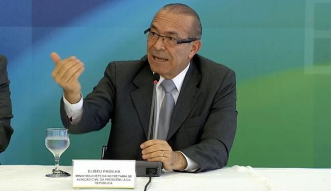 Eliseu Padilha concedeu entrevista após reunião com Dilma Rousseff - Foto: Reprodução   NBR