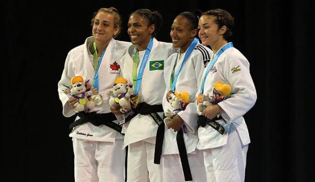 Érika Miranda, da categoria até 52 kg, levou o ouro - Foto: Matt Detrich-USA TODAY Sports   Reuters