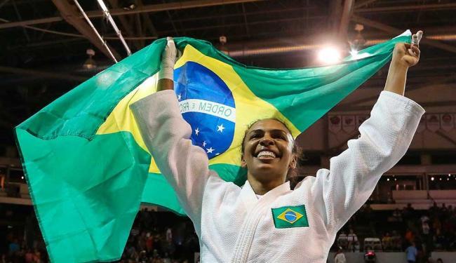 Érika conquistou a primeira medalha de ouro para o Brasil no Pan - Foto: Márcio Fernandes | Estadão Conteúdo