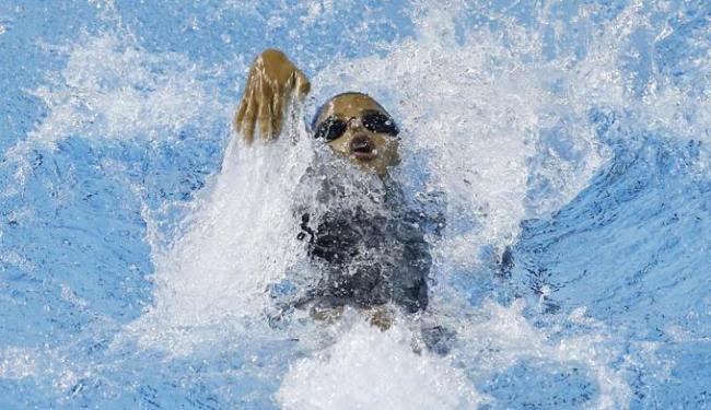 Etiene Medeiros durante preliminar nos 100m costas feminino - Foto: Rob Schumacher-USA TODAY Sports   Reuters