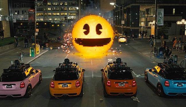Batalha entre Pac-man e Arcaders, em Nova York - Foto: Divulgação