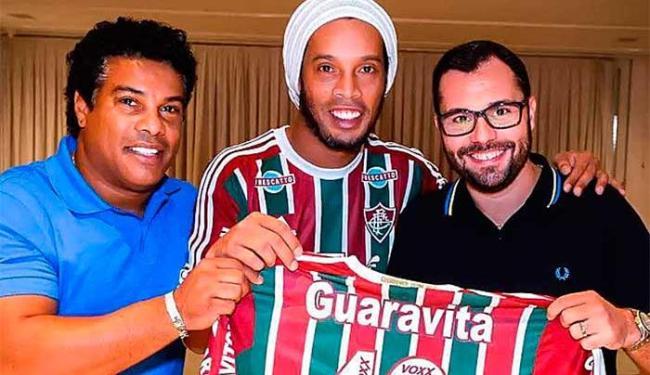 Ronaldinho não esconde empolgação com o acerto e também com o Maracanã - Foto: Reprodução   Instagram