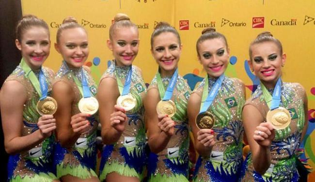 Equipe brasileira de ginástica rítmica deu show e conquistou o penta por equipes - Foto: Divulgação l @timebrasil