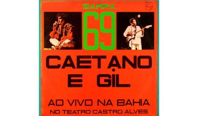 Capa do disco de vinil Barra 69 Caetano e Gil - Foto: Divulgação