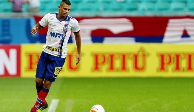Gols de Jacó garantiram retorno do Bahia ao G-4 - Foto: Divulgação   Felipe Oliveira   ECBahia