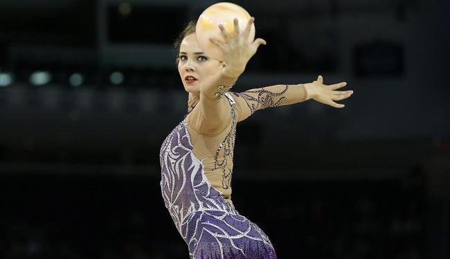 Kvieczynski também foi a quarta colocada no individual geral da ginástica rítmica - Foto: Tom Szczerbowski | USA TODAY Sports | Reuters