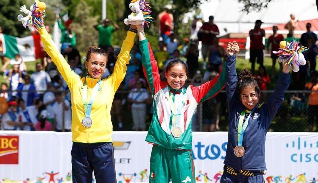 Erica se tornou, neste domingo, a primeira atleta do País a ganhar medalha na modalidade - Foto: Geoff Burke-USA TODAY Sports | Reuters