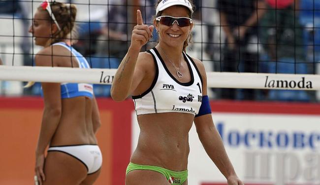 Larissa França, medalhista olímpica de vôlei de praia - Foto: Divulgação   CBV