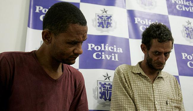 Marcos e João foram apresentados nesta terça-feira, 28, na 14ª DT - Foto: Adilton Venegeroles | Ag. A TARDE