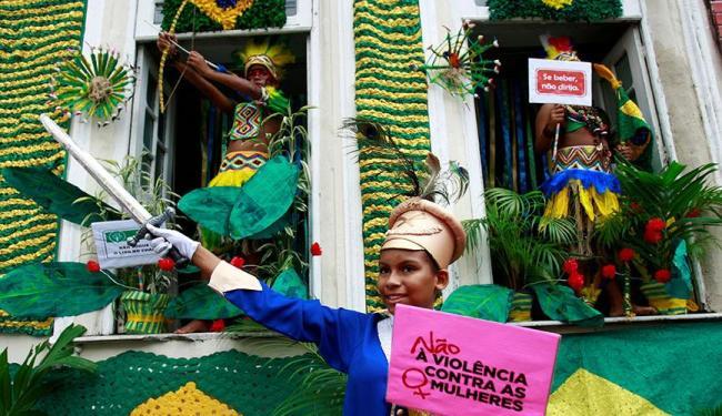 Maria Quitéria mirim dia não à violência de gênero - Foto: Fernando Vivas | Ag. A TARDE