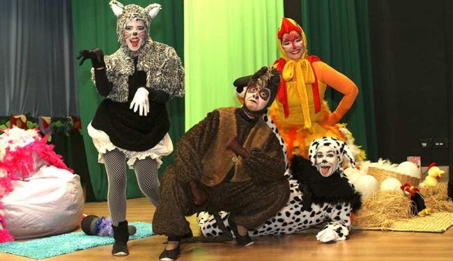 Musical conta a história de 4 animais que, cansados dos maus tratos, fogem e montam um grupo musical - Foto: Divulgação