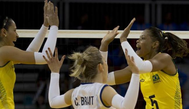Com time misto, seleção feminina de vôlei tem dificuldade para vencer Porto Rico na estreia no Pan - Foto: Rebecca Blackwell | Associated Press