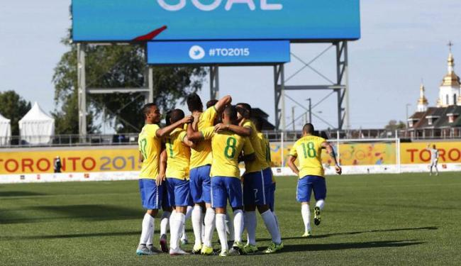 Jogadores comemoram um dos gols da goleada sobre o Peru - Foto: Rafael Ribeiro   CBF