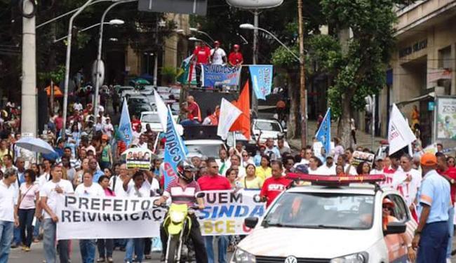 Os agentes de endemias estão em greve desde 19 de junho - Foto: Reprodução | Sindacs