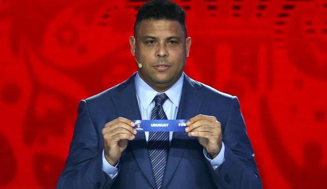 Ronaldo durante o sorteio dos jogos - Foto: Ag. Reuters