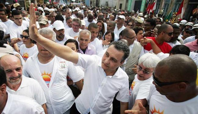 Rui também não falou se teria um nome para apoiar na candidatura pela prefeitura de Salvador - Foto: Raul Spinassé | Ag. A TARDE