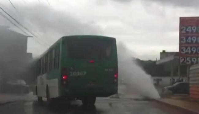 Abastecimento foi interrompido na região por durante três horas - Foto: Reprodução | TV Bahia