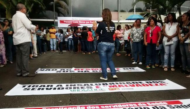 Profissionais da Saúde já realizaram outros protestos no CAB - Foto: Divulgação | Sindsaúde